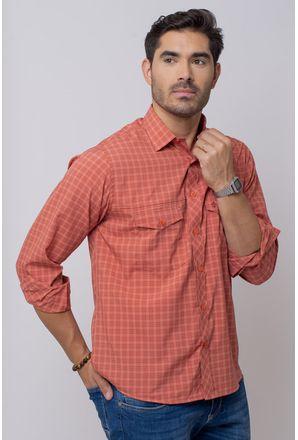 Camisa-Casual-Masculina-Tradicional-Microfibra-Salmao-08025-02