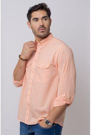 Camisa-Casual-Masculina-Tradicional-Microfibra-Salmao-08025-01