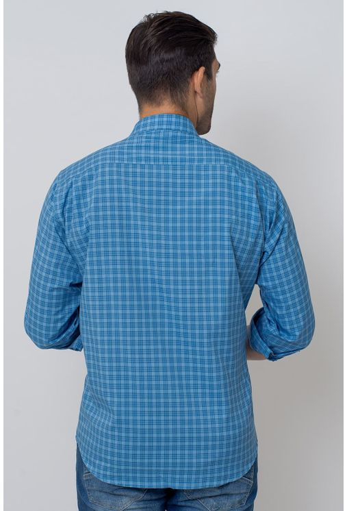 Camisa-Casual-Masculina-Tradicional-Microfibra-Azul-08025-01