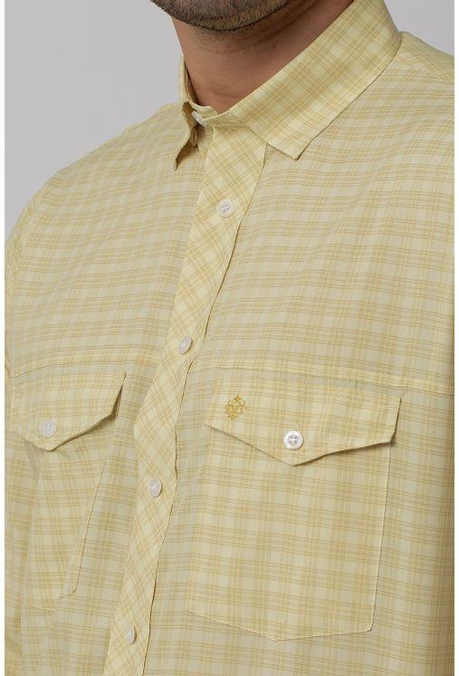 Camisa-Casual-Masculina-Tradicional-Microfibra-Creme-08025-01