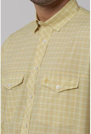 Camisa-Casual-Masculina-Tradicional-Microfibra-Creme-08025-02