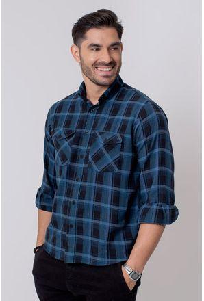 Camisa-Casual-Masculina-Tradicional-Flanela-Cinza-08209-03