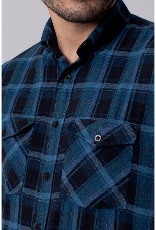 Camisa-Casual-Masculina-Tradicional-Flanela-Cinza-08209-04