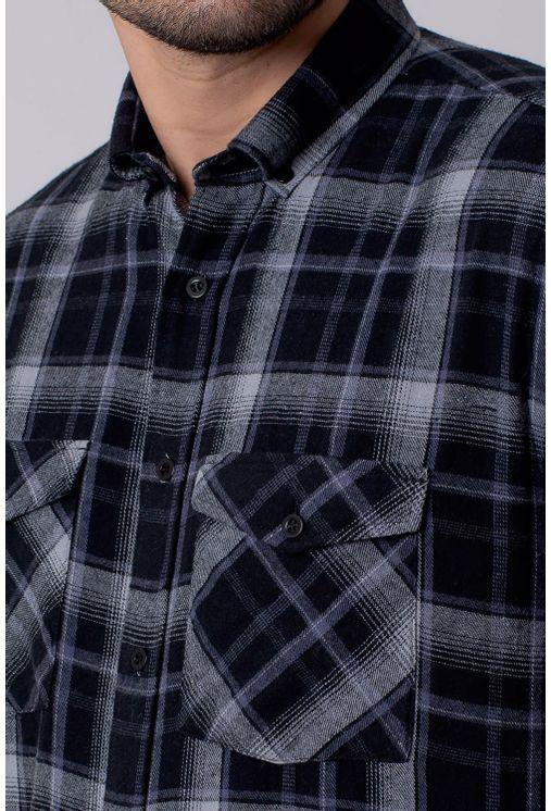 Camisa-Casual-Masculina-Tradicional-Flanela-Cinza-08210-01