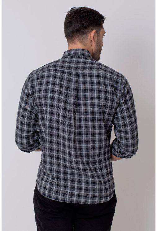 Camisa-Casual-Masculina-Tradicional-Flanela-Preto-08211-01