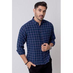 Camisa-Casual-Masculina-Tradicional-Flanela-Azul-08211-01
