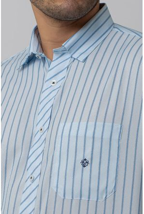 Camisa-Casual-Masculina-Tradicional-Microfibra-Azul-Claro-08021-01