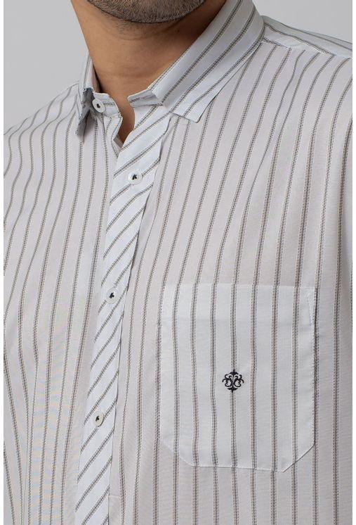 Camisa-Casual-Masculina-Tradicional-Microfibra-Cinza-08021-01
