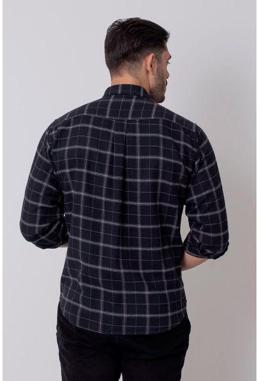 Camisa-Casual-Masculina-Tradicional-Flanela-Preto-08213-01
