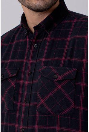 Camisa-Casual-Masculina-Tradicional-Flanela-Vermelho-08213-01
