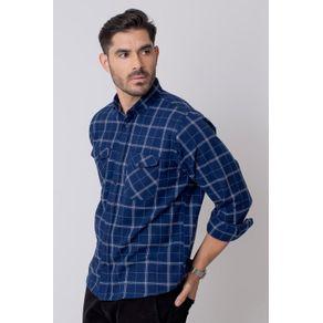 Camisa-Casual-Masculina-Tradicional-Flanela-Azul-08213-01