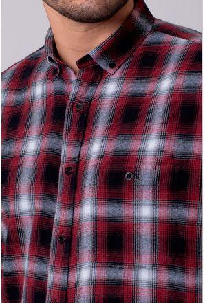 Camisa-Casual-Masculina-Tradicional-Flanela-Vermelho-08214-01