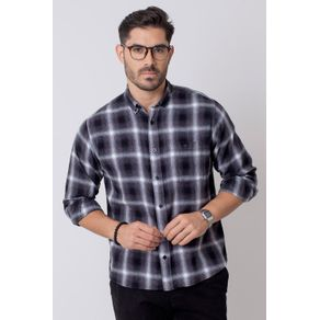 Camisa-Casual-Masculina-Tradicional-Flanela-Grafite-08214-01