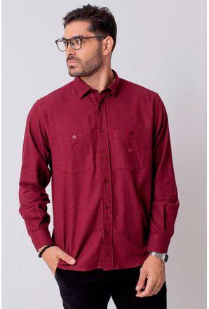 Camisa-Casual-Masculina-Tradicional-Flanela-Vermelho-08205-01
