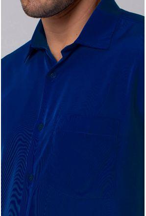 Camisa-Casual-Masculina-Tradicional-Microfibra-Azul-Escuro-07952-01