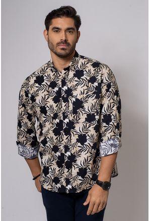 Camisa-Casual-Masculina-Tradicional-Algodao-Fio-40-Bege-08336-02