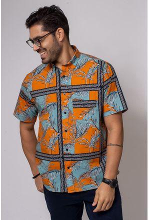 Camisa-Casual-Masculina-Tradicional-Algodao-Fio-40-Laranja-08337-01