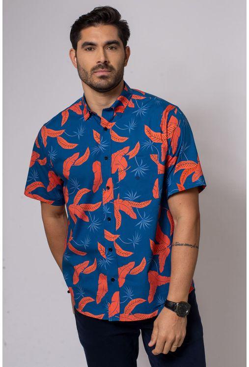 Camisa-Casual-Masculina-Tradicional-Algodao-Fio-40-Azul-08337-01