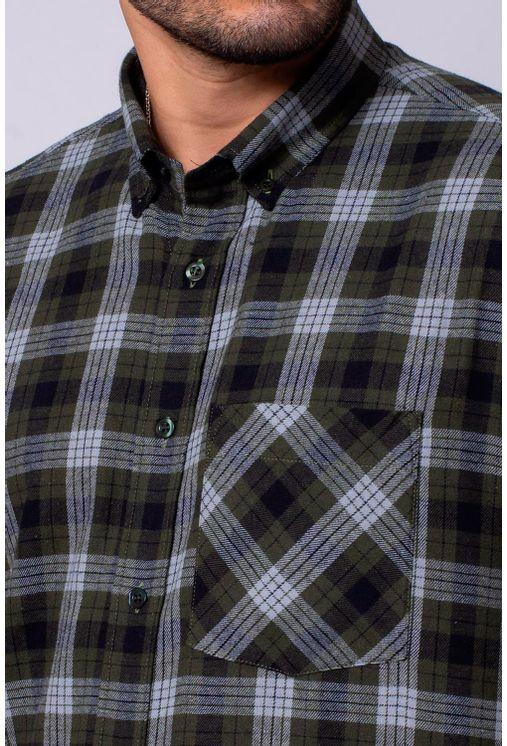 Camisa-Casual-Masculina-Tradicional-Flanela-Verde-08377-01