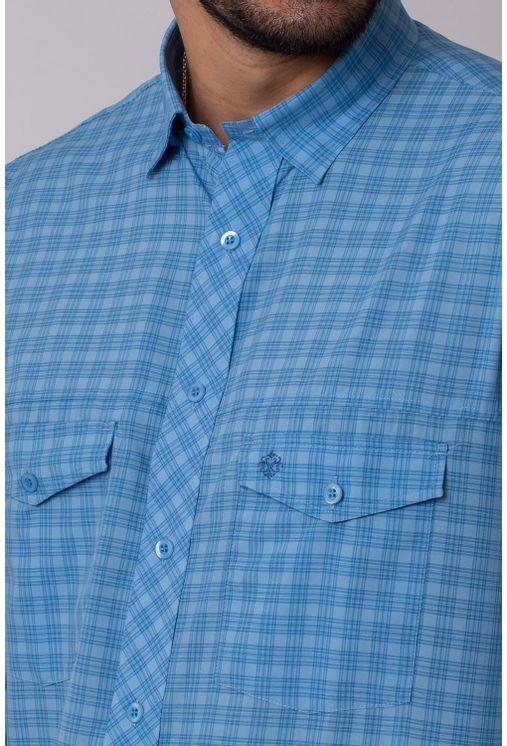Camisa-Casual-Masculina-Tradicional-Microfibra-Azul-Medio-08025-01