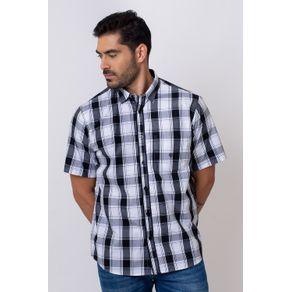 Camisa-Casual-Masculina-Tradicional-Algodao-Fio-50-Preto-06266-01