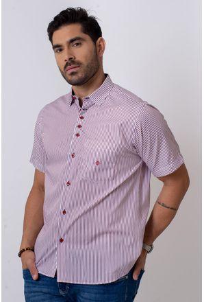 Camisa-Casual-Masculina-Tradicional-Algodao-Fio-80-Vermelho-05808-01