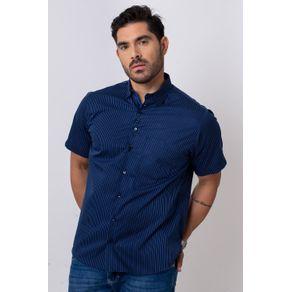 Camisa-Casual-Masculina-Tradicional-Algodao-Fio-80-Azul-05808-01