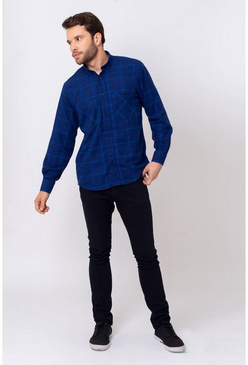 Camisa-Casual-Masculina-Tradicional-Flanela-Azul-08197-01