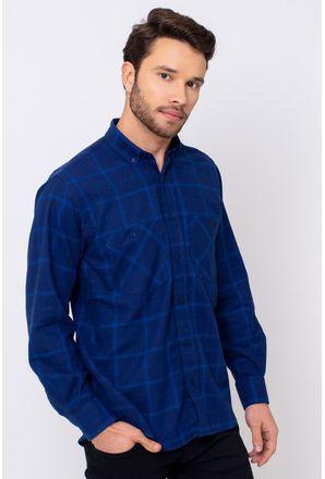 Camisa-Casual-Masculina-Tradicional-Flanela-Azul-08197-04