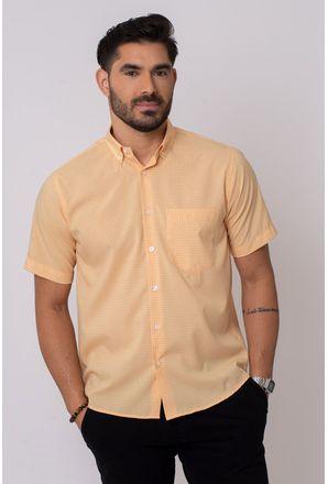 Camisa-Casual-Masculina-Tradicional-Microfibra-Laranja-08308-01