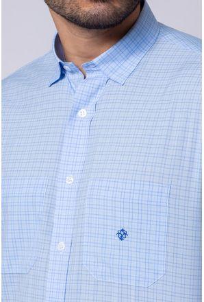 Camisa-Casual-Masculina-Tradicional-Microfibra-Azul-Medio-08032-01