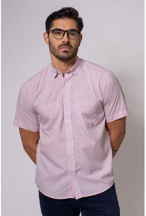 Camisa-Casual-Masculina-Tradicional-Microfibra-Rosa-08032-01