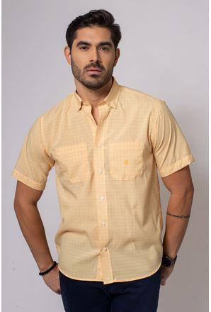 Camisa-Casual-Masculina-Tradicional-Microfibra-Laranja-08032-01