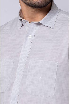Camisa-Casual-Masculina-Tradicional-Microfibra-Cinza-08032-01