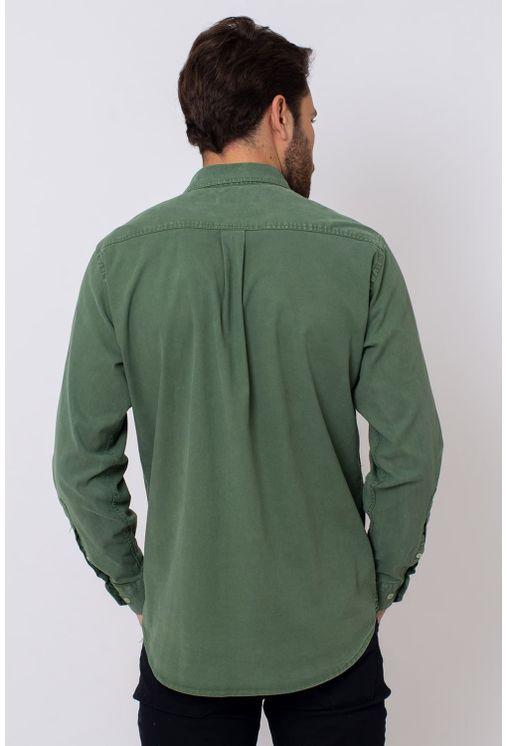 Camisa-Casual-Masculina-Tradicional-Tencel-Verde-08352-01
