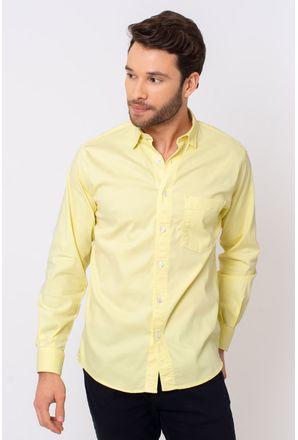 Camisa-Casual-Masculina-Tradicional-Tencel-Creme-08352-01