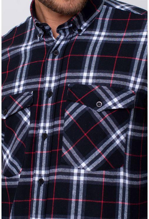 Camisa-Casual-Masculina-Tradicional-Flanela-Preto-08378-02