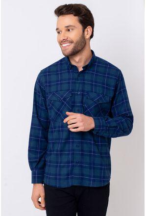 Camisa-Casual-Masculina-Tradicional-Flanela-Azul-08379-01