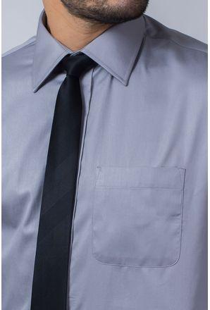 Camisa-Social-Masculina-Tradicional-Algodao-Fio-80-Cinza-08393-01