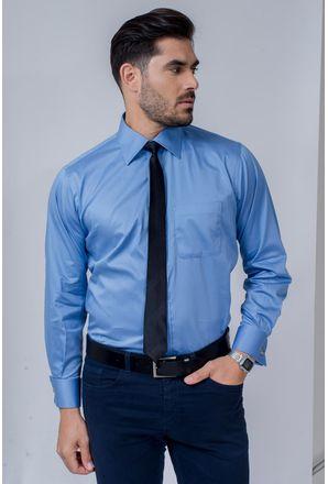 Camisa-Social-Masculina-Tradicional-Algodao-Fio-80-Azul-08393-01