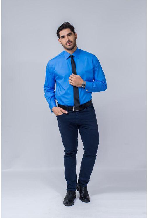 Camisa-Social-Masculina-Tradicional-Algodao-Fio-60-Azul-Medio-06798-01