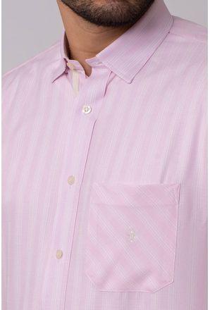 Camisa-Casual-Masculina-Tradicional-Microfibra-Rosa-08036-01