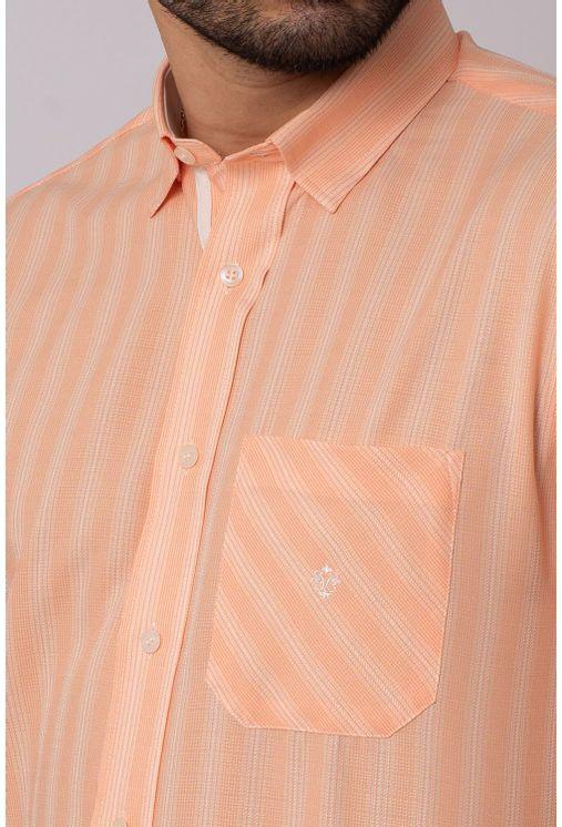 Camisa-Casual-Masculina-Tradicional-Microfibra-Laranja-08036-01