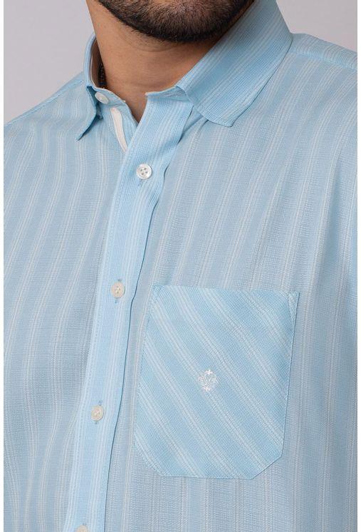 Camisa-Casual-Masculina-Tradicional-Microfibra-Azul-Medio-08036-01