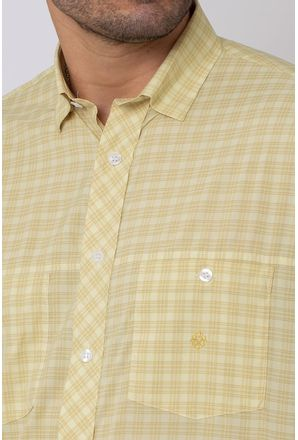 Camisa-Casual-Masculina-Tradicional-Microfibra-Creme-08027-01
