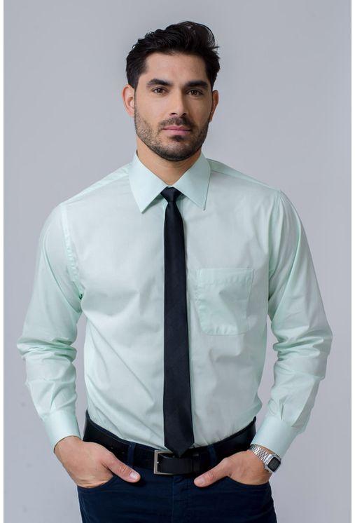 Camisa-Social-Masculina-Tradicional-Algodao-Fio-50-Verde-Claro-02039-01