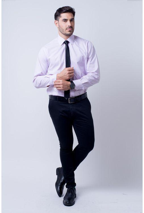 Camisa-Social-Masculina-Tradicional-Algodao-Misto-Lilas-02595-02