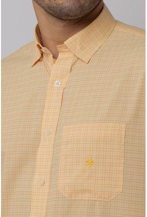 Camisa-Casual-Masculina-Tradicional-Microfibra-Laranja-08029-01