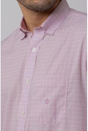 Camisa-Casual-Masculina-Tradicional-Microfibra-Rosa-08029-01