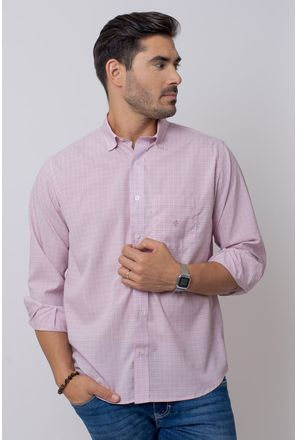 Camisa-Casual-Masculina-Tradicional-Microfibra-Rosa-08029-02